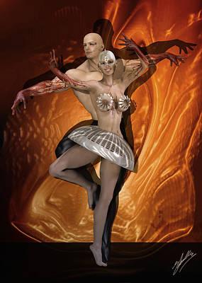 Buy Fine Art Online Digital Art - Fire Dance by Joaquin Abella
