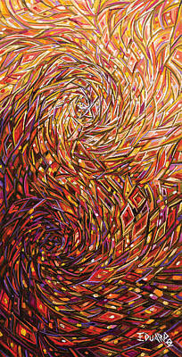 Warm Colors Painting - Dance Of Fire by Eduardo Rodriguez