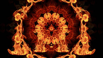 Dance Of Fire Mandala Original by Maurice Spees
