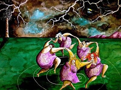 Wall Art - Painting - Dance Of Fulgora by Jakki Moore
