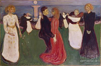 Dance Of Life Print by Edvard Munch