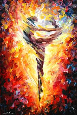 Dance Of Love - Palette Knife Oil Painting On Canvas By Leonid Afremov Original by Leonid Afremov