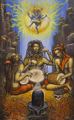 Kundalini Painting - Dance Of Shiva by Vrindavan Das