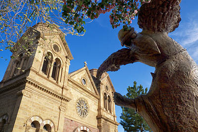 Southwest Church Photograph - Dance Of St. Francis Santa Fe Nm by Mary Lee Dereske