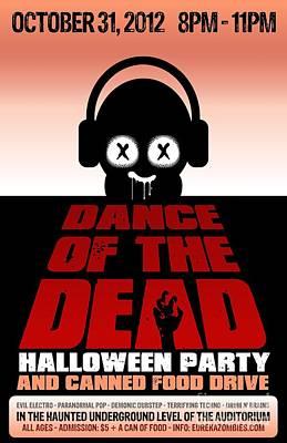 Digital Art - Dance Of The Dead Poster 2012 by Jeff Danos