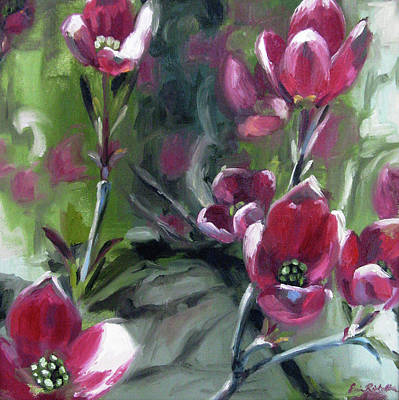 Painting - Dance Of The Dogwood by Erin Rickelton