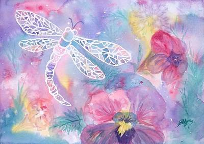 Painting - Dance Of The Dragonfly by Ellen Levinson