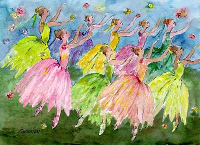 Nutcrackers Painting - Dance  Of The Flowers by Kathleen  Gwinnett