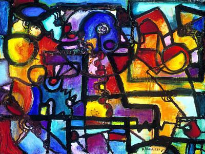 Painting - Dance Of The Gauge Bosons In Vacuum by Regina Valluzzi