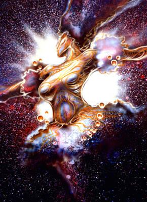 Dance Of The Nebula Art Print by Mike Underwood