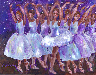 Painting - Dance Of The Snow Queen by Kathleen  Gwinnett