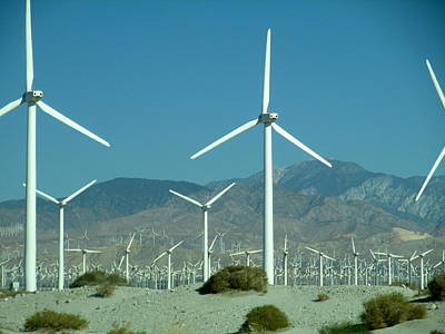 Photograph - Dance Of The Wind Turbines by Randall Weidner