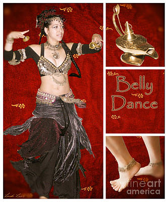 Digital Art - Dance Series - Belly Dance by Linda Lees