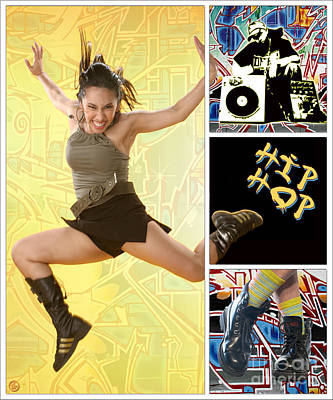Digital Art - Dance Series - Hip Hop by Linda Lees