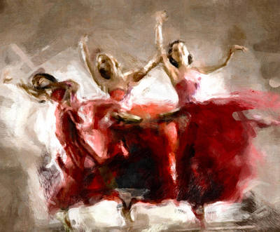 Ballet Painting - Dance The Hours Away by Georgiana Romanovna