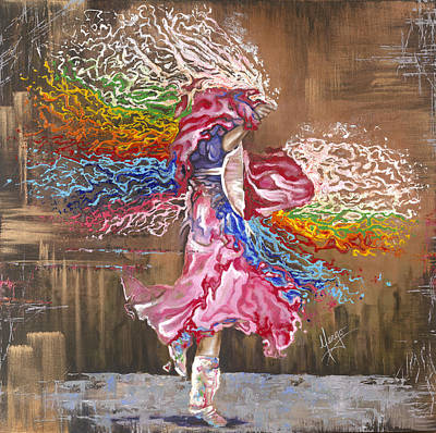 Rainbow Colors Painting - Dance Through The Color Of Life by Karina Llergo