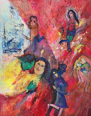 Charles Wallis Painting - Dance To The Light Fandango by Charles Wallis