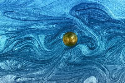 Luminous Globe Photograph - Dance Upon Cosmic Wind by Chrystyne Novack