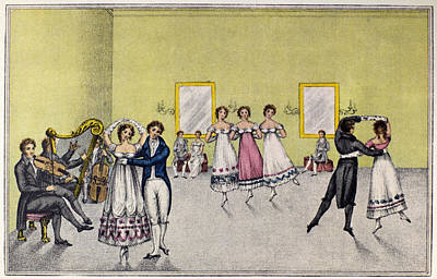 Painting - Dance Waltz, 1817 by Granger