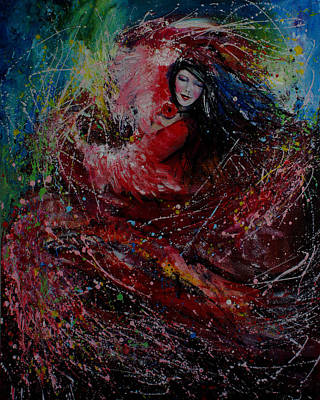 Surrealistic Painting - Dance With Colors by Isabel Salvador