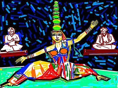 Dance With Pots Print by Anand Swaroop Manchiraju