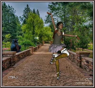 Statue Portrait Digital Art - Dance With Skates 1dws001 by Pemaro