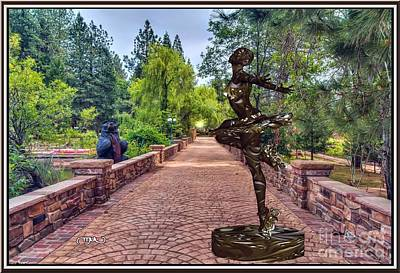Statue Portrait Digital Art - Dance With Skates 2dws001 by Pemaro