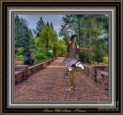 Statue Portrait Digital Art - Dance With Skates Dws002 by Pemaro