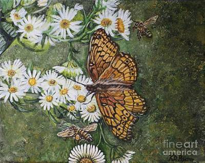Painting - Dance With The Daisies by Kimberlee Baxter