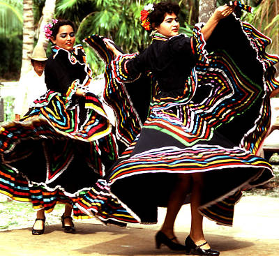 Photograph - Dance - Yucatan Skirt Swirls by Robert  Rodvik