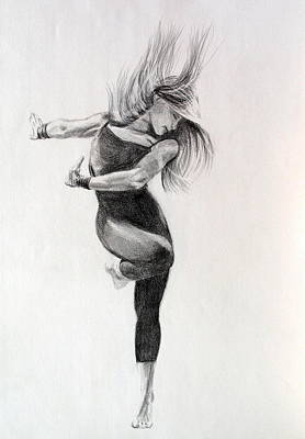 Drawing - Dancer 2 by Steve Jones