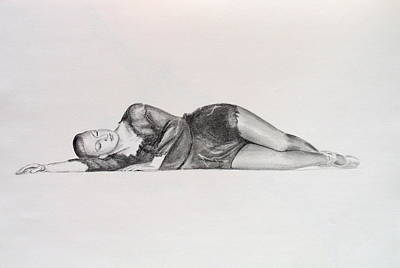 Drawing - Dancer 3 by Steve Jones