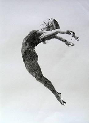 Drawing - Dancer 4  by Steve Jones