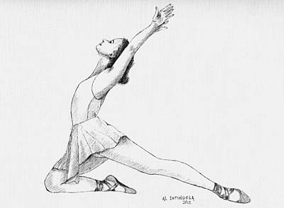 Drawing - Dancer by Al Intindola