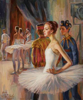 Painting - Dancer And Joker by Serguei Zlenko