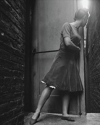 Full Length Photograph - Dancer Anita Alvarez Looking Out Of A Backstage by Frances McLaughlin-Gill