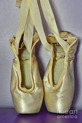 Dancer - Ballet Pointe Shoes Print by Paul Ward