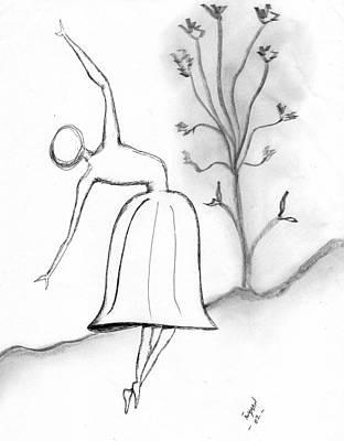 Dancer Drawing - Dancer by Dan Twyman