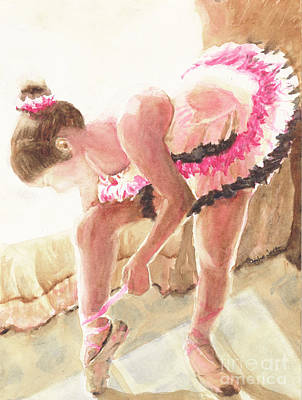 Painting - Dancer Flooded In The Light Watercolor by CheyAnne Sexton