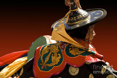 Art Print featuring the digital art Dancer From Bhutan by Angelika Drake