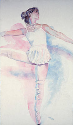 Dancer In Shades Of White Art Print by Dan Terry