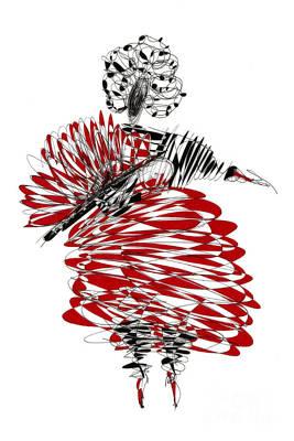 Dancer Drawing - Dancer by Justyna JBJart