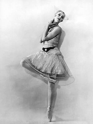 Photograph - Dancer Nikitina At Monte Carlo by Underwood Archives
