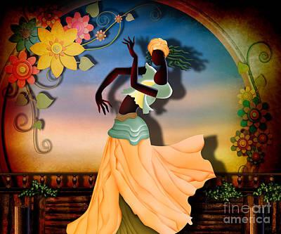 Dancer Of The Balcony Art Print by Bedros Awak