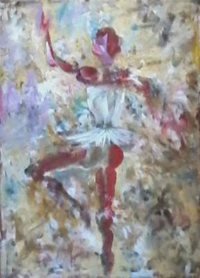 Dancer Red Art Print by Giuseppe Cavallo