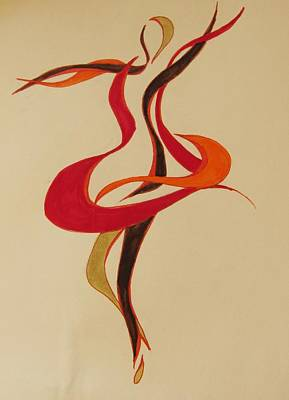 Abstract Movement Drawing - Dancer Stencil by Shelby Robbins
