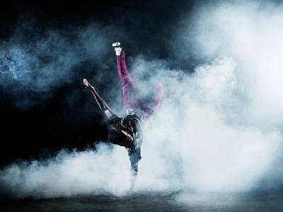Photograph - Dancer Surrounded By Smoke by Henrik Sorensen