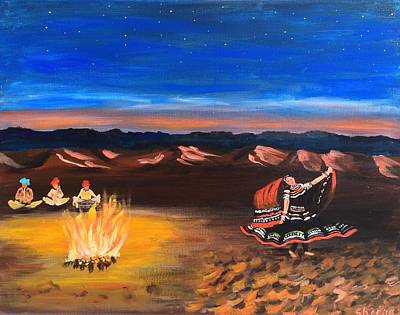Sanddunes Painting - Dancer Under The Stars by Sheena Saighal