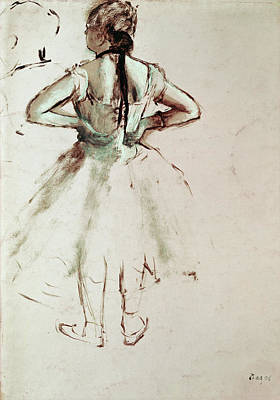 Pastel Drawing Drawing - Dancer Viewed From The Back by Edgar Degas