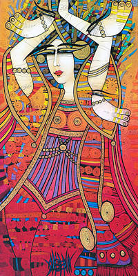 Dancer With Doves Art Print